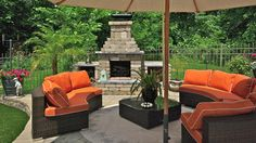Installing an outdoor fireplace is a warm and elegant idea to develop your outdoor living space.