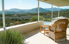 The view from Faraway Cottage, Tanagra Wine Farm. Photo by Laurent Delveaux.