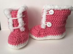 6-9 Month Fuzzy Trim Boots   Craftsy