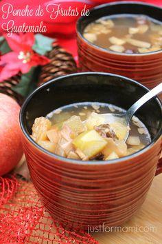 Receta de Ponche de Frutas de Guatemala