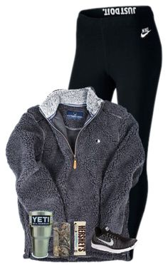 """""""Way too cold out there❄️"""" by lacrosse-19 on Polyvore featuring NIKE and Hershey's"""