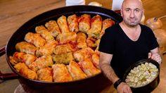 Sarmale după rețeta lui Chef Cătălin Scărlatescu | Bucataria Noastra Romanian Food, Shrimp, Chicken, Recipes, Quality Memes, Rugs, Fine Dining, Romanian Recipes, Salads