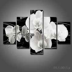 Us 55 99 No Wooden Frame Gift Art Canvas Painting Black And White Flowers Home Decoration Wall Pictures For Living Room In Calligraphy From