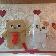 Personalised Origami Pug dog Wedding Card, Personalised Pug Engagement card, Handmade Funny Anniversary Card, For Boyfriend, Girlfriend Origami Dog, Origami Folding, Origami Paper, The Pug, Anniversary Cards For Boyfriend, Funny Anniversary Cards, Pug Valentine, Love Valentines, Pugs