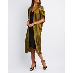 e25ad7120b Charlotte Russe Embroidered Satin Duster Kimono ( 19) ❤ liked on Polyvore  featuring intimates