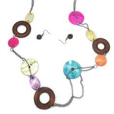 Paparazzi Multi-Colored Circle Necklace & Earrings Set. $5 www.fashion5jewelry.com Paparazzi $5 Jewelry & Accessories. #$5 jewelry #Paparazzi Jewelry