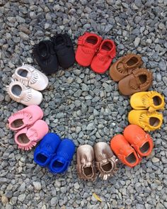 Adorable real leather baby moccasins!