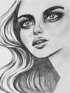 Most recent unfinished pencil illustration by Tanya Sanelli. #fashiondrawing #artwork #pencildrawing #wallart #faces #portraits