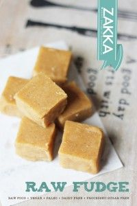 Raw Vanilla Fudge {Gluten-Free, Vegan}