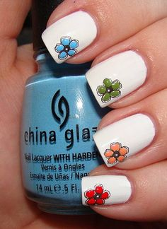 Cool summer nail art.