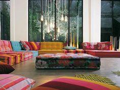 Anbausofa MAH JONG Kollektion Les Contemporains by ROCHE BOBOIS | Design Hans Hopfer
