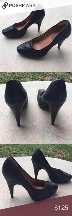 Acne Black Leather Pumps Acne Black Leather Pumps Size 36 Acne Shoes Heels