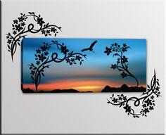 quadro moderno adesivi murali farfalle sono bellissime decorazioni ... - Decorazioni A Muro