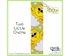 Peyote Bracelet Pattern: Two Little Chicks - INSTANT DOWNLOAD pdf - Buy any 2, get one Free  with coupon codes - bp246