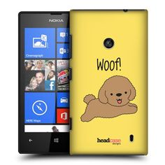 e_cell - Head Case Poodle Happy Puppy Design Snap-On Back Case for Nokia Lumia 520