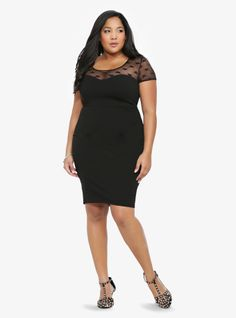 We <3 this heart mesh LBD...the perfect going-out dress!