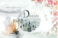 Dream - Fairy Watercolor Collection by whiteheartdesign on @creativemarket