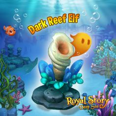 Dark Reef Elf! Play Now!  http://t.funplus.com/trenfpo  Need some materials to help build your Deep Sea?  The Dark Reef Elf would like to offer a trade to help you out. If you can give it what it needs it will give you some random materials back! You may not get the materials you want the first time but you will for sure get them after a few tries. So please don't give up!   Click Like & Share to tell everyone! #RoyalStoryTwitter