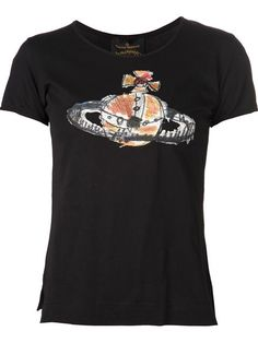 Shop Vivienne Westwood Anglomania  embroidered orb T-shirt in Anastasia Boutique from the world's best independent boutiques at farfetch.com. Over 1000 designers from 60 boutiques in one website.
