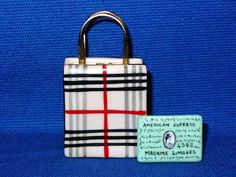 BURBERRY PURSE W/CREDIT CARD - Porcelain Limoges from France - Limoges Factory Co.