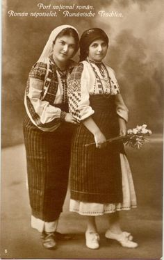 No.06 Romanian National costume Eastern Europe, Folklore, Romania, Old Photos, Costumes, Popular, Traditional, Country, Couple Photos