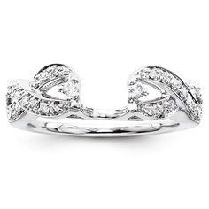14k White Gold Diamond Ring Wrap Enhancer – Sparkle & Jade