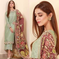 Maya Ali is well known Pakistani actress, model and VJ. Maya Ali is all set to Promote Teefa in Trouble. Here we have her pictures. Have a look. Pakistani Formal Dresses, Pakistani Wedding Outfits, Nikkah Dress, Pakistani Designer Suits, Indian Designer Wear, Frocks And Gowns, Indian Bridesmaids, Maya Ali, Muslim Beauty