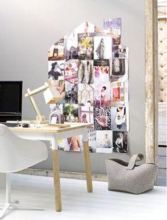 Deze inspiratie foto's gescheurd uit tijdschriften staan als een huis.