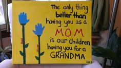 Blake and Oliver's Mother's Day gift for Nana
