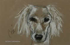 Special Moments: Saluki Art By Cori Solomon, painting by artist Art Helping Animals