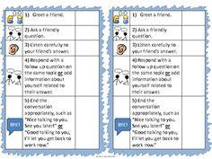 Social Skills Conversation Prompting Chart {FREEBIE}