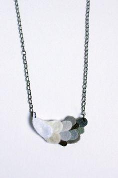 grey felt necklace