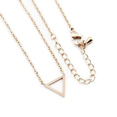 Our Minimalistic Triangle Necklace comes with an chain. Available Gold Plated or Rose Gold Plated. Triangle Necklace, Coin Necklace, Initial Necklace, Arrow Necklace, Stud Earrings, Necklaces, Rose Gold Chain, Gold Chains, Sun And Moon Necklace