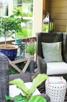 Get inspired by this beautiful summer porch makeover that will have you swooning.