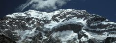 Aconcagua Summit.  View from the Plaza Francia.  Aconcagua Climbing Expeditions.  © 2012 Andes Mountain Guides