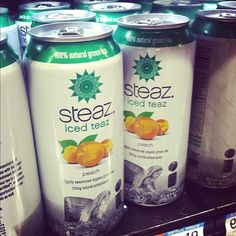 Lots of delicious: Peach Steaz Iced Teaz