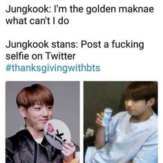 "29 Likes, 4 Comments - Meme / Vine / Fact Account  (@just_kpop_freaks) on Instagram: ""#thanksgivingwithbts . . .. . Credit to @jiminpxrk Credit to @oofyuta"""