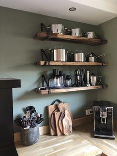 30 Fun and Fresh Decor Ideas to Make Your Kitchen Wall Looks Amazing Apartment Kitchen, Home Decor Kitchen, Kitchen Interior, Home Kitchens, Diy Cozinha, Küchen Design, Design Ideas, Loft Design, Modern Kitchen Design