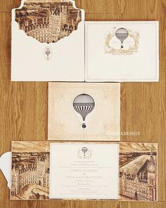 Wedding invitation with vintage traveler theme | http://www.bridestory.com/fornia-design-invitation/projects/yoppy-vica