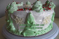 Winter Wonderland Cake 7 Minute Frosting, Winter Wonderland Cake, Cream Of Tarter, Recipe Generator, Gel Food Coloring, Vanilla Frosting, Loaf Cake, Canned Pumpkin