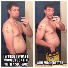We all look better with six pack abs... -