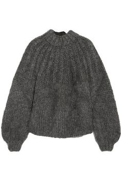 GANNI - Julliard open-back mohair and wool-blend sweater 7fb06006e