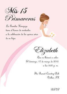 Diy Princess Sweet 16 Quinceanera Invitation 15 Invitations Quince Cards