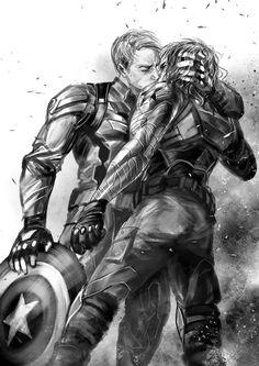 Captain America, Steve Rodgers, Winter Soldier, Bucky Barnes, comics, comic books, Marvel comics, Stucky, give Captain America a boyfriend