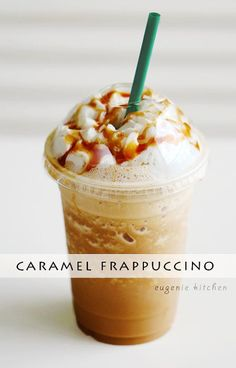 Forget about heading to Starbucks for coffee fix and make your own caramel Frappuccino at home! Eugenie Kitchen Forget about heading to Starbucks for coffee fix and make your own caramel Frappuccino at home! Starbucks Caramel Frappuccino, Starbucks Drinks, Caramel Frappe Recipe, Starbucks Coffee, Vanilla Bean Frappachino Starbucks, Carmel Frappe, Frappuccino Recipe Xanthan Gum, Frozen Frappuccino Recipe, Drink Recipes