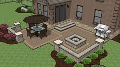 Patio Ideas: How to Successfully Design a Paver Patio! : Paver Patio Ideas for Fabulous Outdoor Living! Design Patio, Backyard Patio Designs, Backyard Landscaping, Patio Ideas, Backyard Ideas, Pavers Ideas, Landscaping Ideas, Patio Diy, Patio Pergola