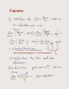 Matematica del quinto anno di scuola superiore: ESERCIZI SVOLTI SUGLI INFINITESIMI