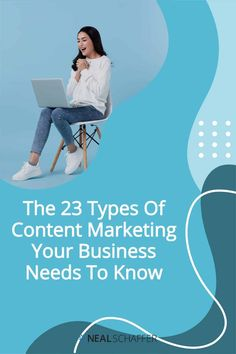 If you want to be successful at content marketing, there are 23 different types of content marketing that you need to consider. Facebook Marketing, Content Marketing, Social Media Marketing, Twitter Tips, Social Media Trends, Social Business, Landing Page Design, Influencer Marketing, Business Website