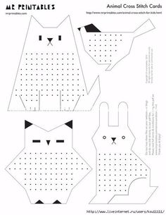 Diy easy stitch cards for children – ArtofitCan add led light to back of it Cross Stitch For Kids, Cross Stitch Cards, Cross Stitch Kits, Cross Stitching, Paper Animal Crafts, Paper Animals, Paper Crafts, Making Wooden Toys, Sewing Cards