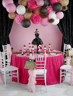 Go glam with this pink and leopard-print party theme!